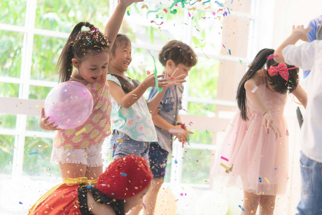 Safe and Sound Event Childcare - Kids partying while the parents are busy at the event