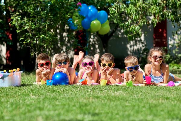 Children having fun in the sunshine